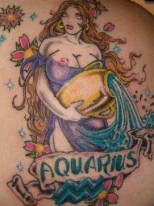 aquarius tattoo designs