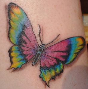 butterfly and stars tattoo designs