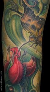 butterfly flower tattoos